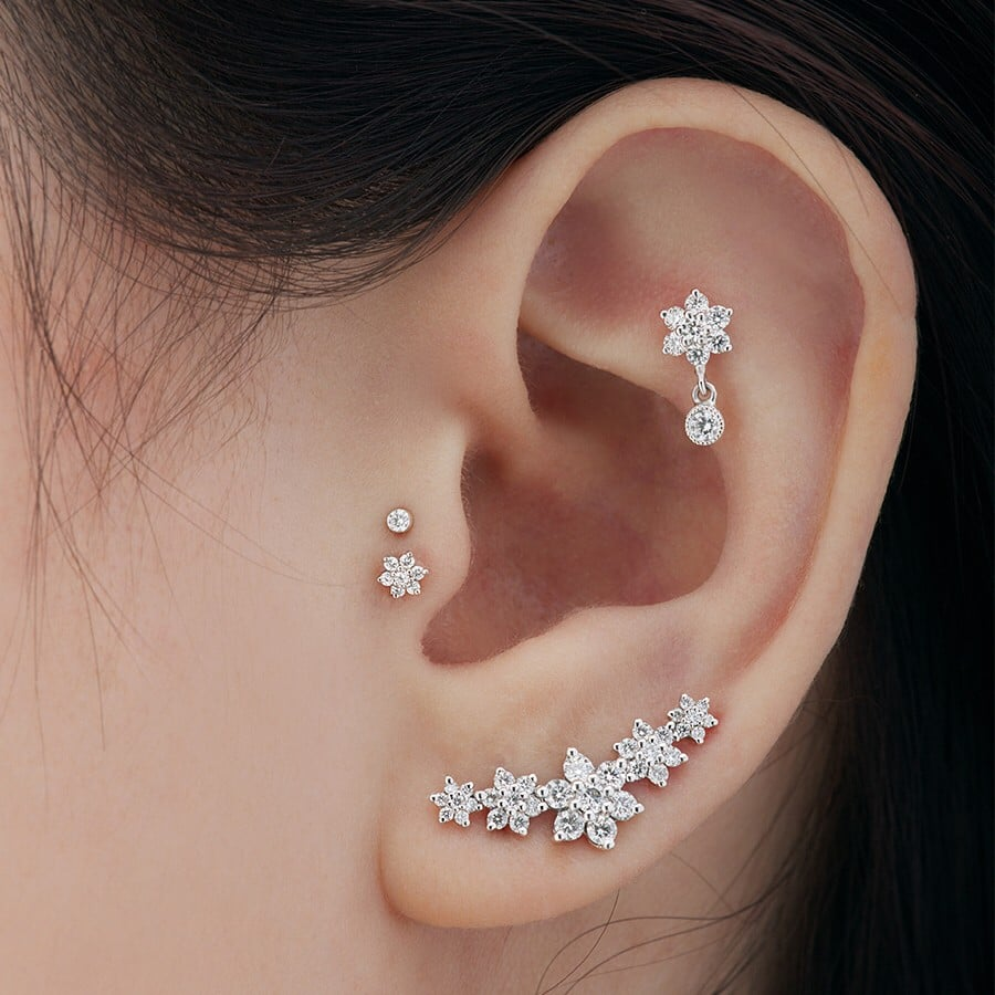 Double Tragus Piercing Trend