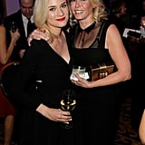 Diane Kruger met with Chelsea Handler with a drink in her hand.