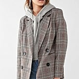Urban Outfitters Red Checkered Blazer