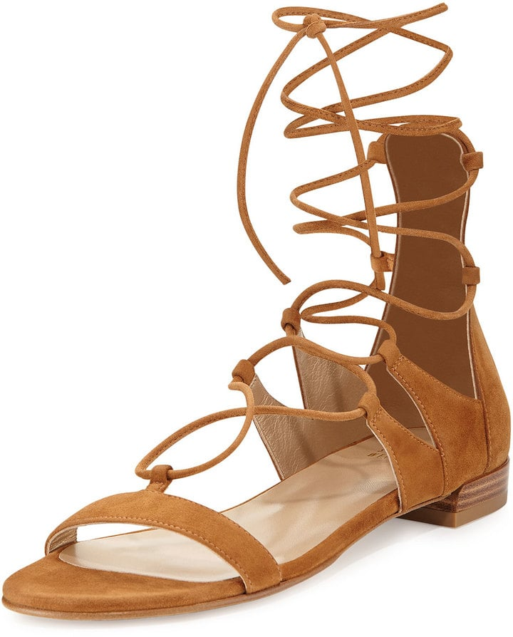 2a7abfc29 Stuart Weitzman Tie-Up Suede Gladiator Sandal ($398)   Best Work ...
