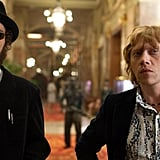 POPSUGAR: What was your favorite thing about making this movie? Rupert Grint: It was such a fun film to work on. It was very spontaneous, and nobody really knew where it was going. I loved working with Ron Perlman and Robbie [Robert Sheehan]. Also, being on the moon and wearing an astronaut suit is kind of every kid's dream. Overall, it was a very unique, special experience.  PS: You play a band manager in the film. If you could have been the manager for anyone back in the '60s, who would it be?  RG: I'll say The Velvet Underground. I'm a big fan of them. PS: I loved how Stanley Kubrick was incorporated into the storyline. Do you have a favorite film of his? RG: Oh, A Clockwork Orange really stayed with me. But I also love Dr. Strangelove, and The Shining is one of my favorites.