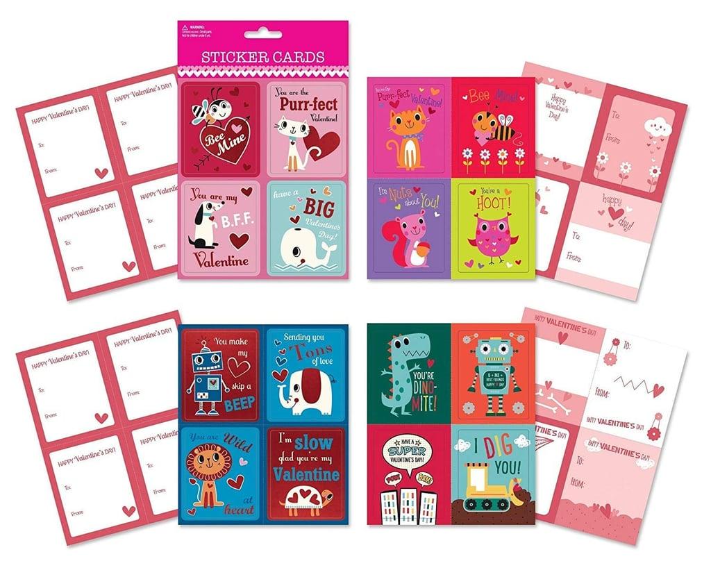 Valentine Day Sticker Cards