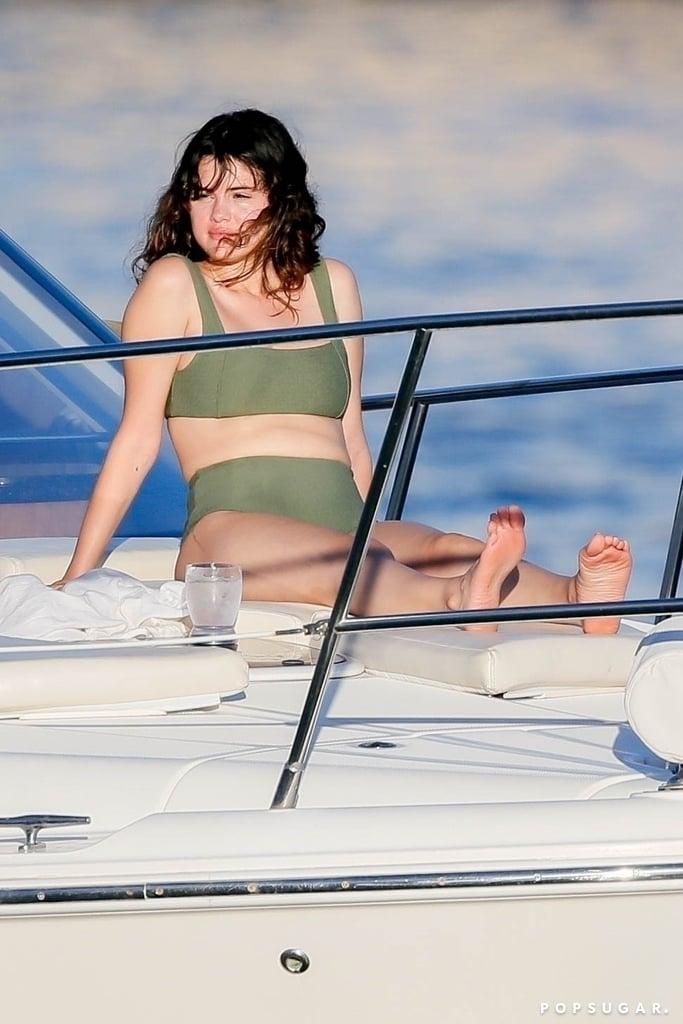Selena Gomez in a Green Bikini in Hawaii