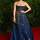 Jennifer Lopez Wearing Valentino to the 2015 Tony Awards