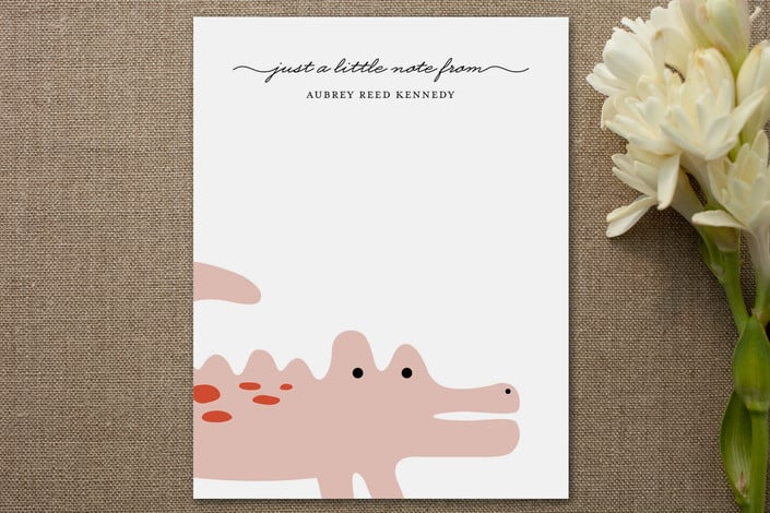 Minted Little Alligator Personalized Stationery