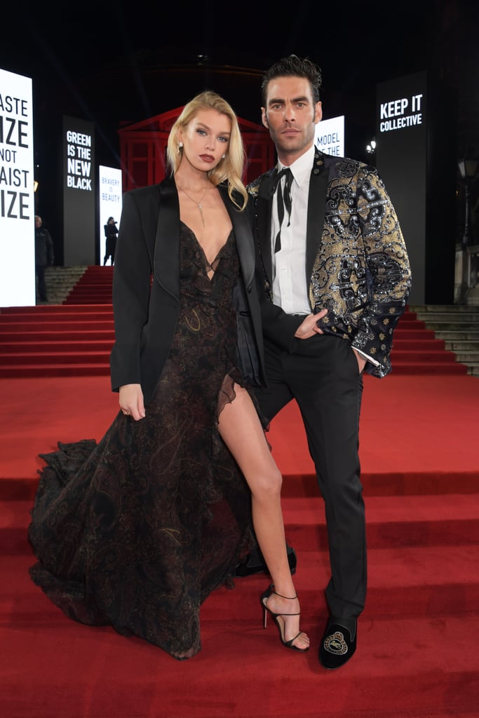 Stella Maxwell and Jon Kortajarena at the British Fashion Awards 2019 in London