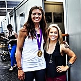 Shawn Johnson caught up with gold medal winner Misty May Treanor.Source: Instagram user shawnjonhnson