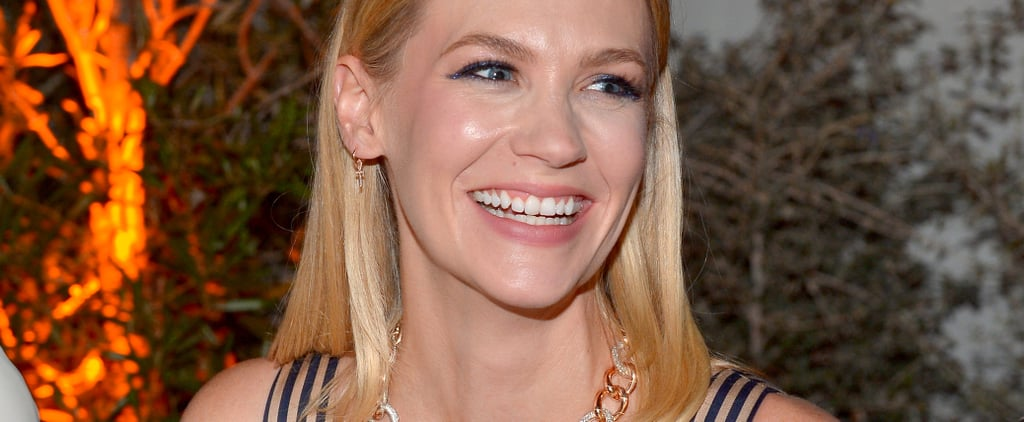 January Jones Pink Hair 2018