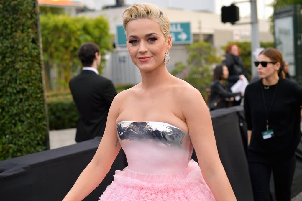 Katy Perry Balmain Dress At The 2019 Grammys Popsugar Fashion