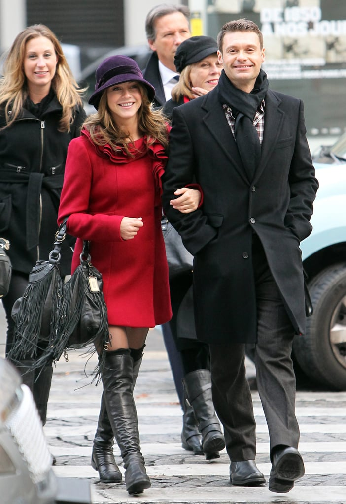 Ryan Seacrest and Julianne Hough strolled through the streets of Paris arm in arm.