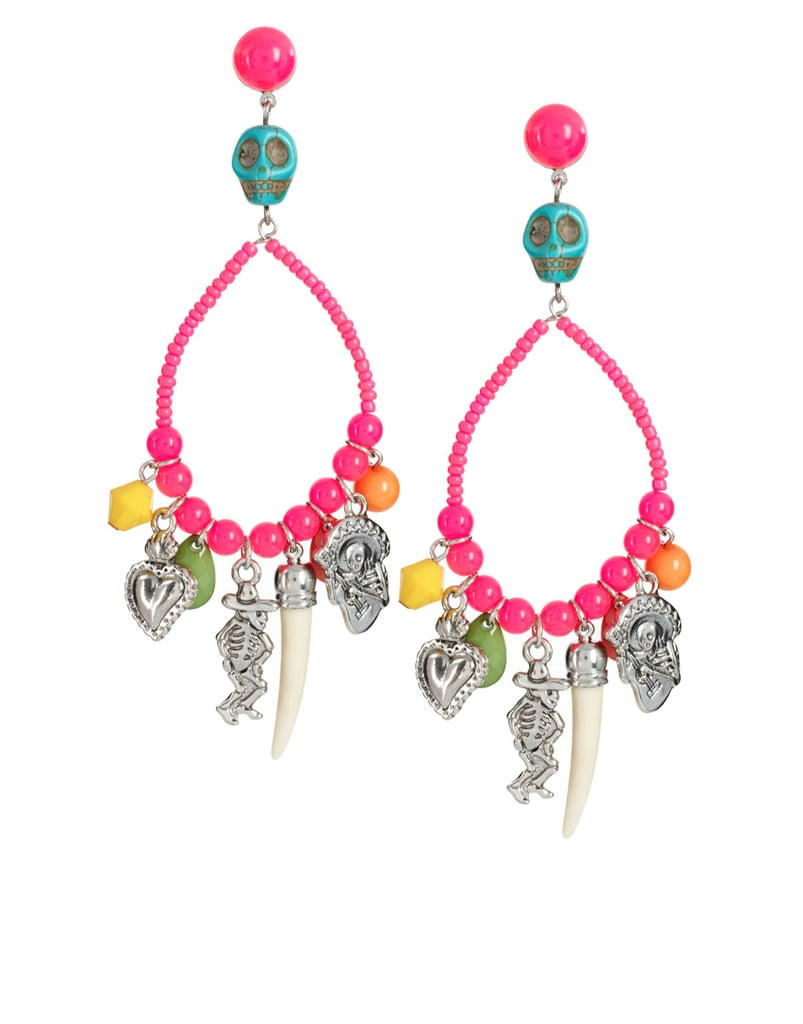 ASOS Skull and Mexican Charm Beaded Drop Earrings ($19)