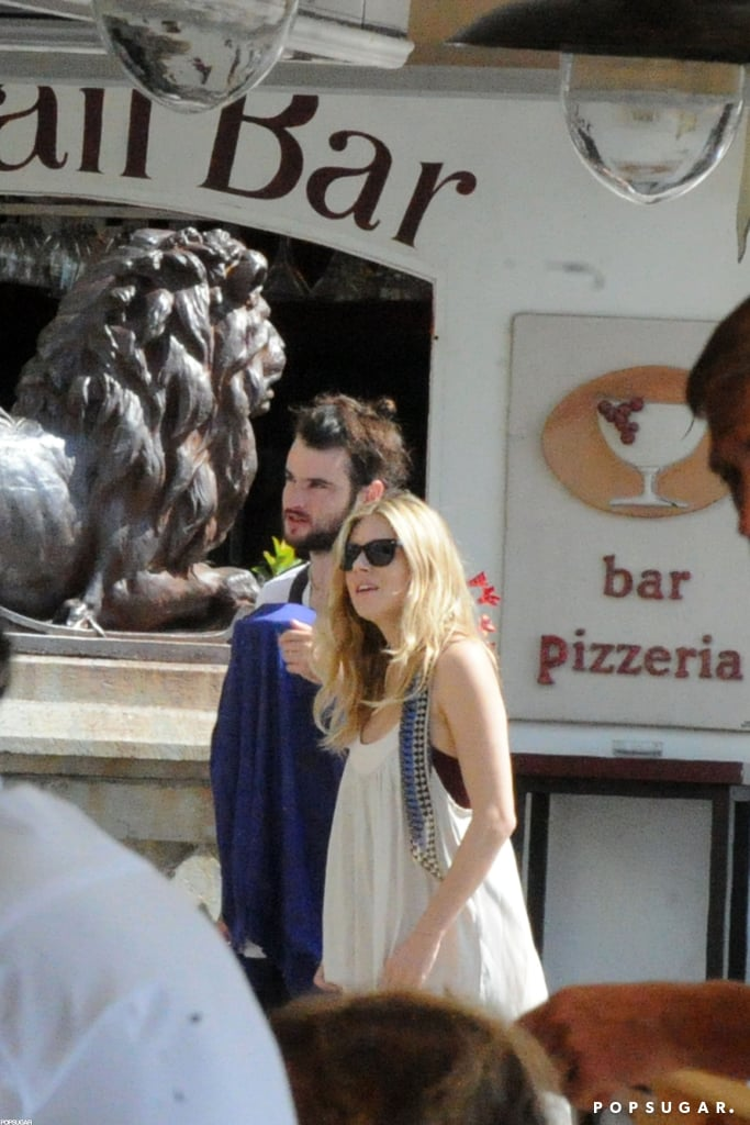 Tom Sturridge and Sienna Miller took Marlowe Sturridge on a getaway to Positano.