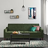 Novogratz Vintage Tufted Velvet Split-Back Futon in Green