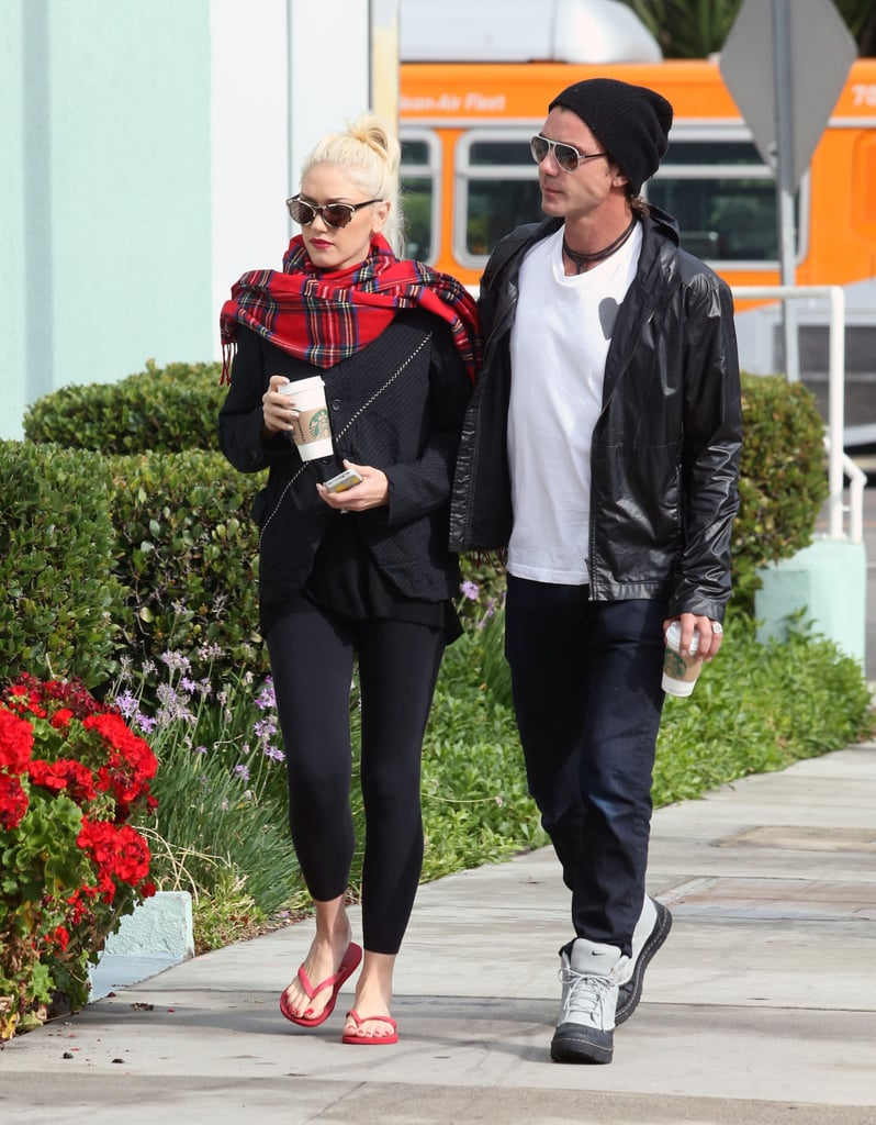 They walked together during an October 2012 coffee run in LA.