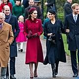 British Royal Family Christmas Church Service 2018