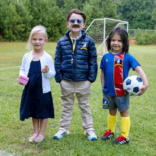 Mom's DIY Ted Lasso Halloween Costumes For Kids