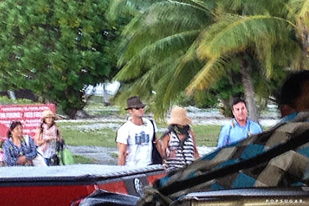 Jennifer Aniston & Justin Theroux Bora Bora Honeymoon Photos