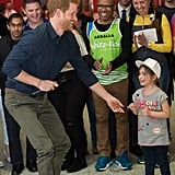 Prince Harry Has a Sweet Encounter With a Very Small but Mighty Wonder Woman