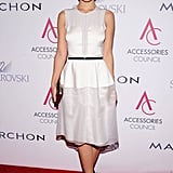 Olivia Wilde made the fit-and-flare look sleek in a belted Calvin Klein version.