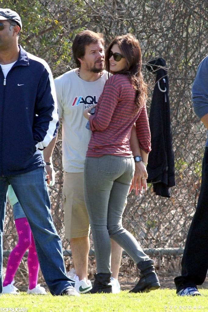Mark Wahlberg and Rhea Durham shared a sweet moment at the park.