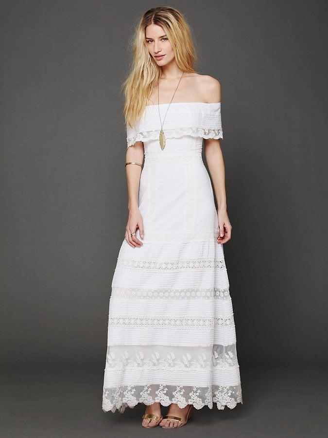 Candela Looks Like an Angel White Off-the-Shoulder Maxi Dress