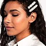 Topshop Pack Of 2 Chunky Pearl Hair Slide Clips