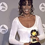 Whitney showed off her Grammy in 1994.