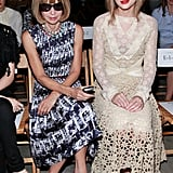 Anna Wintour and Taylor Swift sat together at Rodarte.