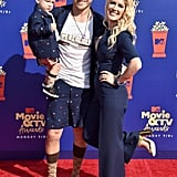 Gunner Pratt, Spencer Pratt, and Heidi Montag at the 2019 MTV Movie and TV Awards