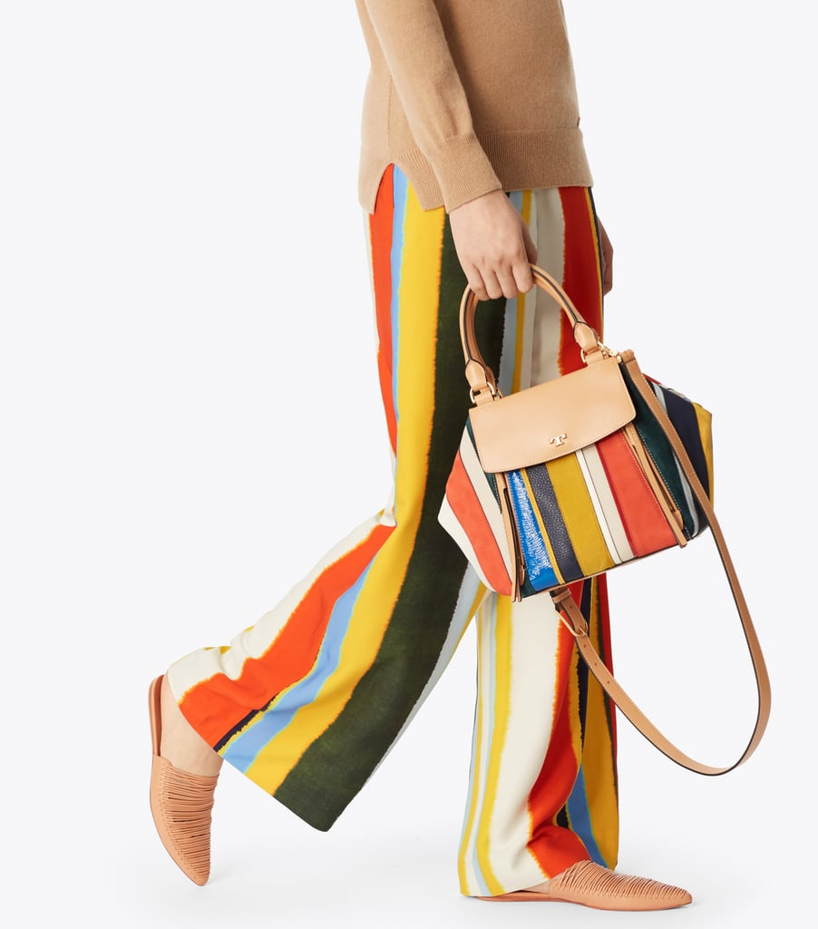 5545335d69 Tory Burch Half-Moon Striped Satchel | Bag Trends For Spring 2018 ...
