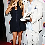Mariah Carey and Nick Cannon posed together at the Project Canvas Exhibition & Art Gala in NYC.