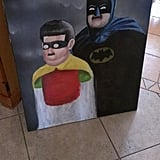Top-Notch, One-of-a-Kind Batman and Robin Painting