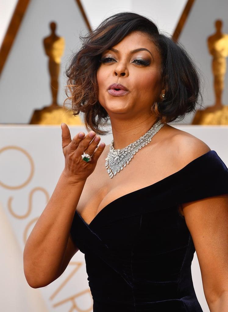 Taraji P. Henson's Hair and Makeup at the 2017 Oscars