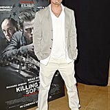 Brad Bitt attended a screening of his Killing Them Softly in London.