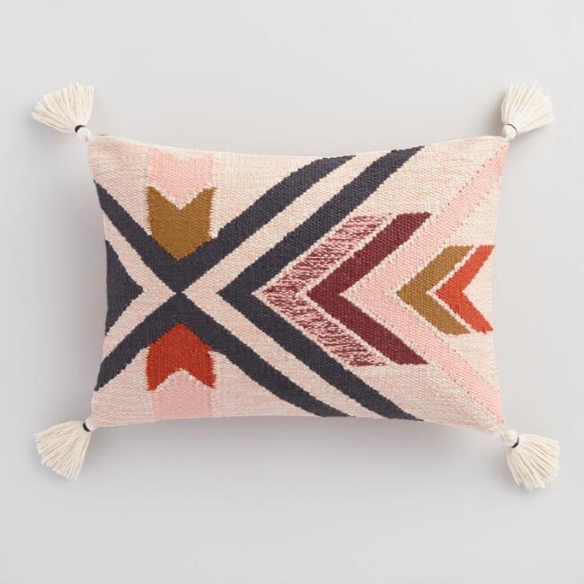 Warm Southwest Indoor Outdoor Lumbar Pillow