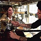 Alexa Chung greeted John Mayer with a handshake prior to their October 2009 interview on It's On With Alexa Chung.
