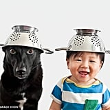 Dog and Baby Dress Up in Matching Outfits