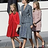Queen Letizia and Her Daughters Had the Cutest Moment Together During a Royal Outing