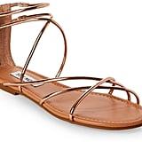 Steve Madden Rose Gold Sapphire Strappy Flat Sandals