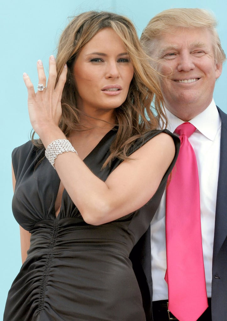 Melania Trump S 10 Year Anniversary Diamond Ring