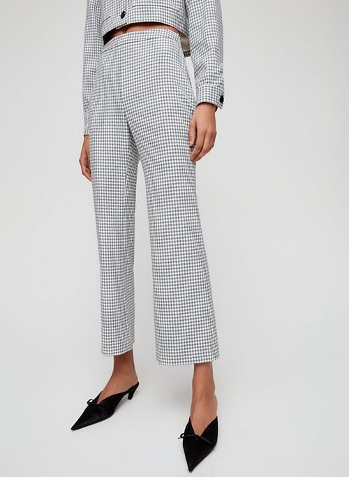 Wilfred Kick Flare Pant High-Waisted Gingham Pant