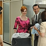 Christina Hendricks as Joan Harris and Jon Hamm as Don Draper on Mad Men.  Photo courtesy of AMC