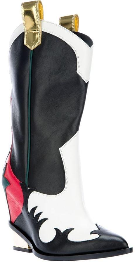 Giuseppe Zanotti Design Appliqué Cowgirl Boots ($1,235)