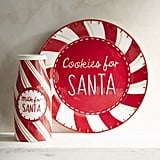 Pier 1 Cookies For Santa Plate and Cup Set