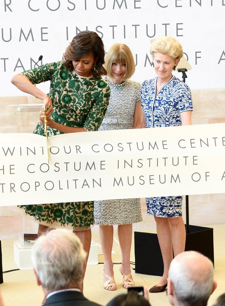 Michelle Obama Opens Anna Wintour Costume Center