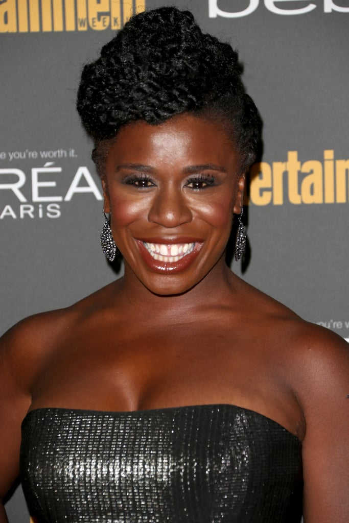Uzo Aduba of Orange Is the New Black had an envy-inducing updo at Entertainment Weekly's pre-Emmys party.