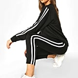 Boohoo Side Stripe Sweat Jogger Set
