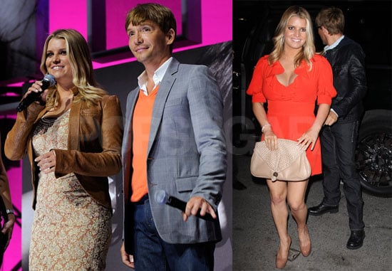 Pictures of Jessica Simpson, Ken Paves, and CaCee Cobb Promoting The Price of Beauty at The VH1 Upfronts