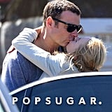Naomi Watts and Liev Schreiber were spotted sharing a kiss in the South of France.