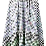 Peter Pilotto Diamond Print Gingham Skirt